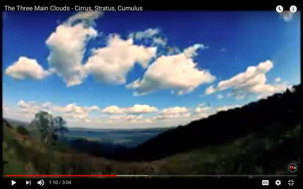 The Three Main Clouds - Cirrus, Stratus, Cumulus
